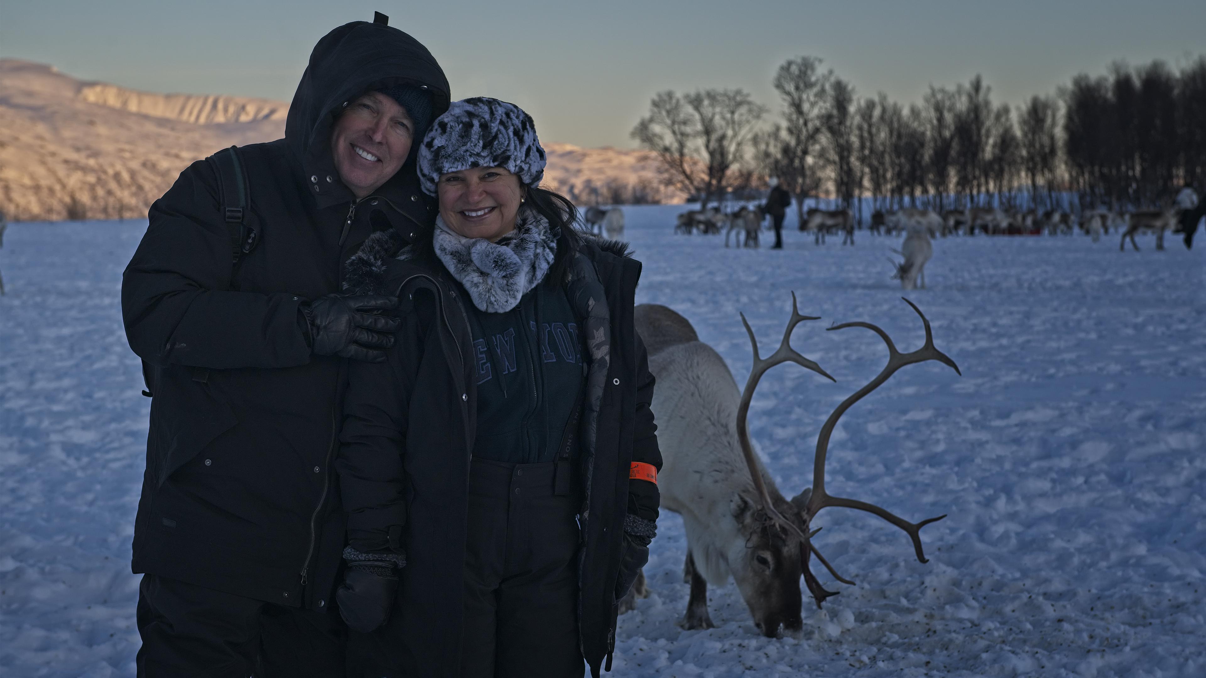 Dirce wrangled her first Reindeer