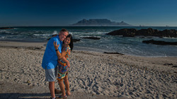 Happy couple with Table Mountain