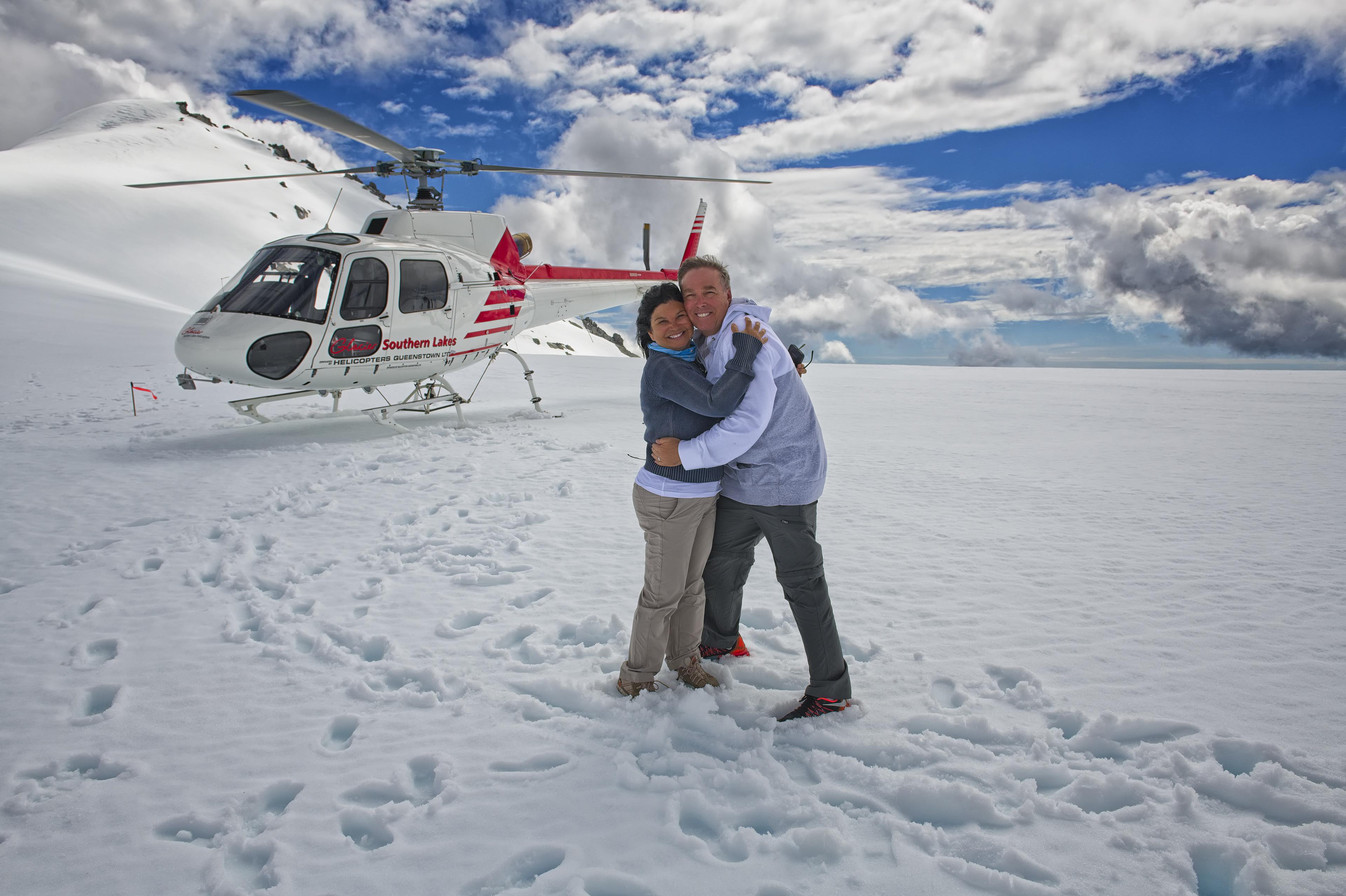 Landed on the Glacier