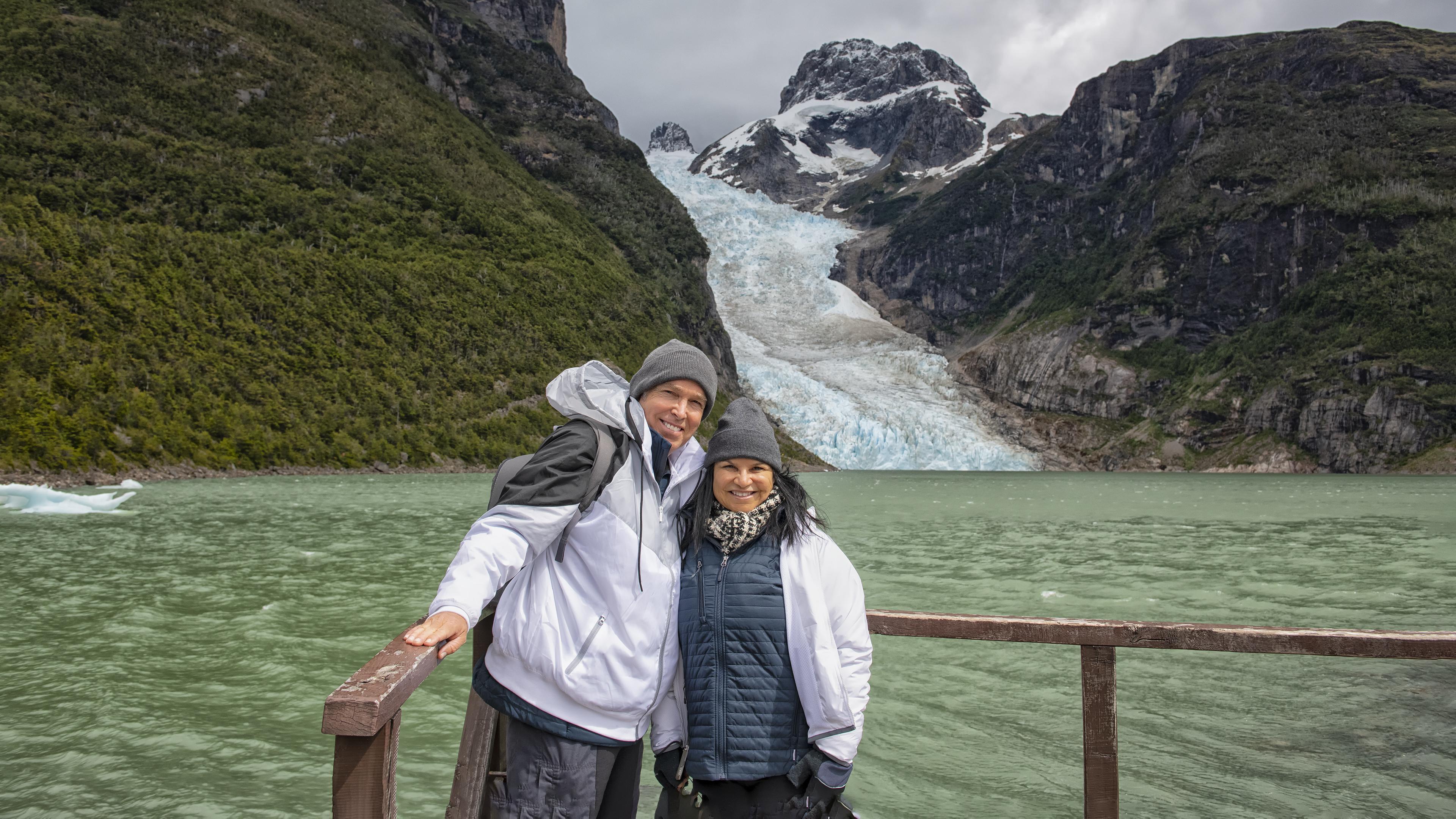 Enjoying Serrano Glacier