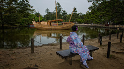Dirce Relaxing in her Kimono