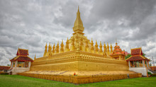 Golden Temple in Vientiane, Laos