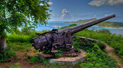 American Cannons on Bora Bora