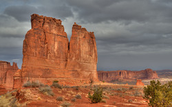 Courthouse Towers in Canyonlands NP