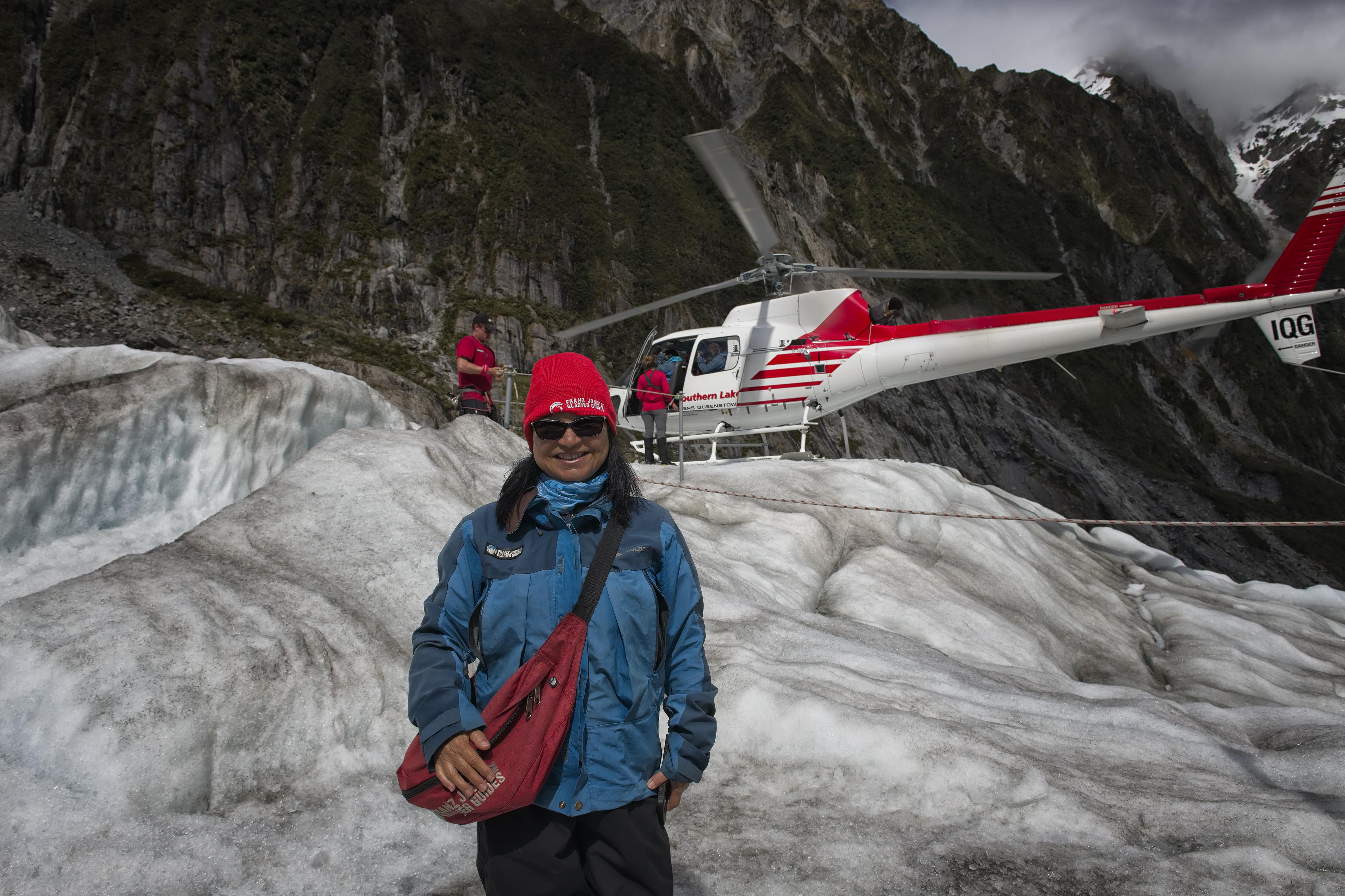Arriving on the Franz Josef glacier