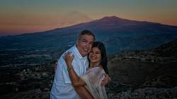 Castlemola with Mt Etna
