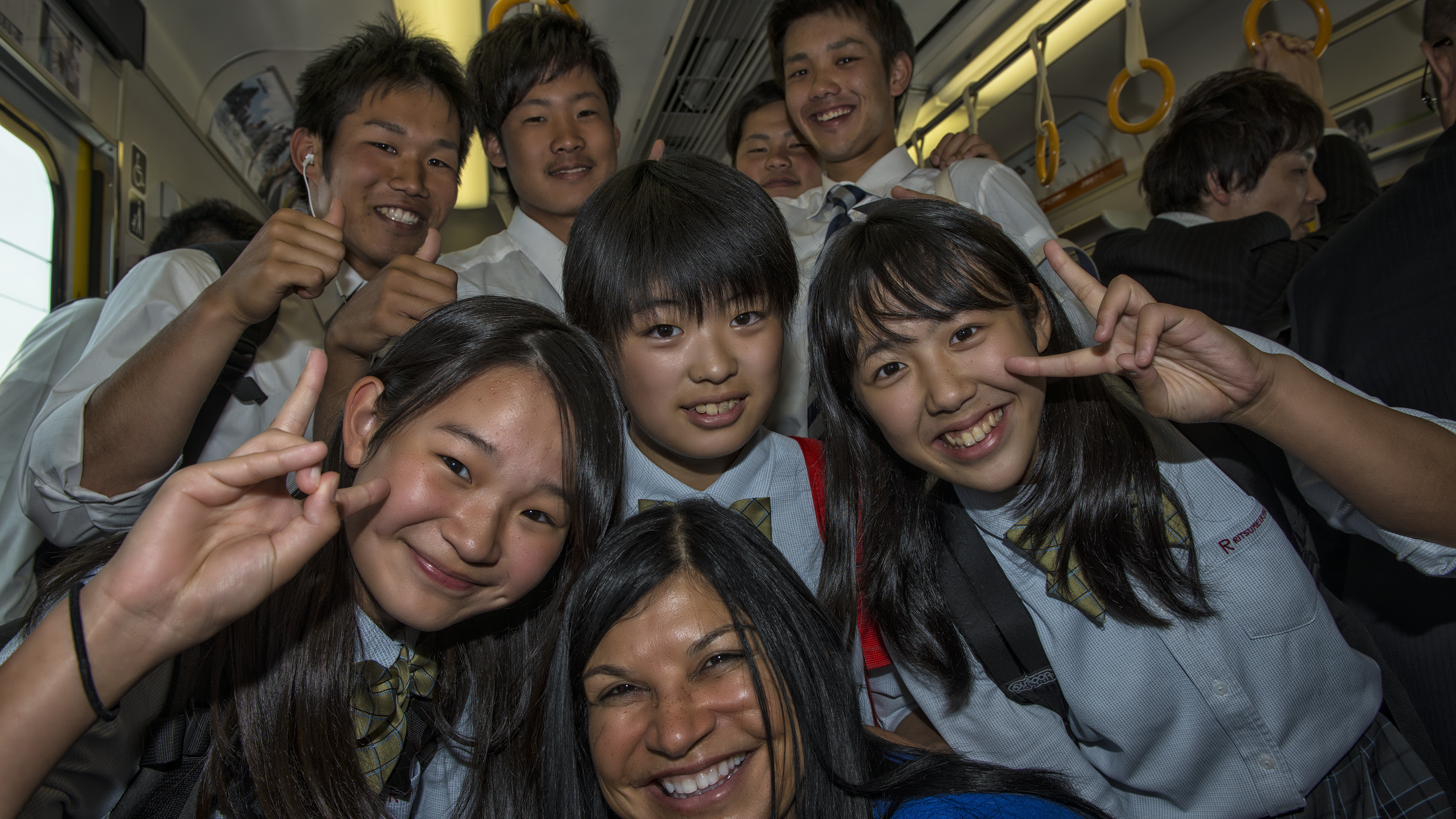 Train ride in Kyoto