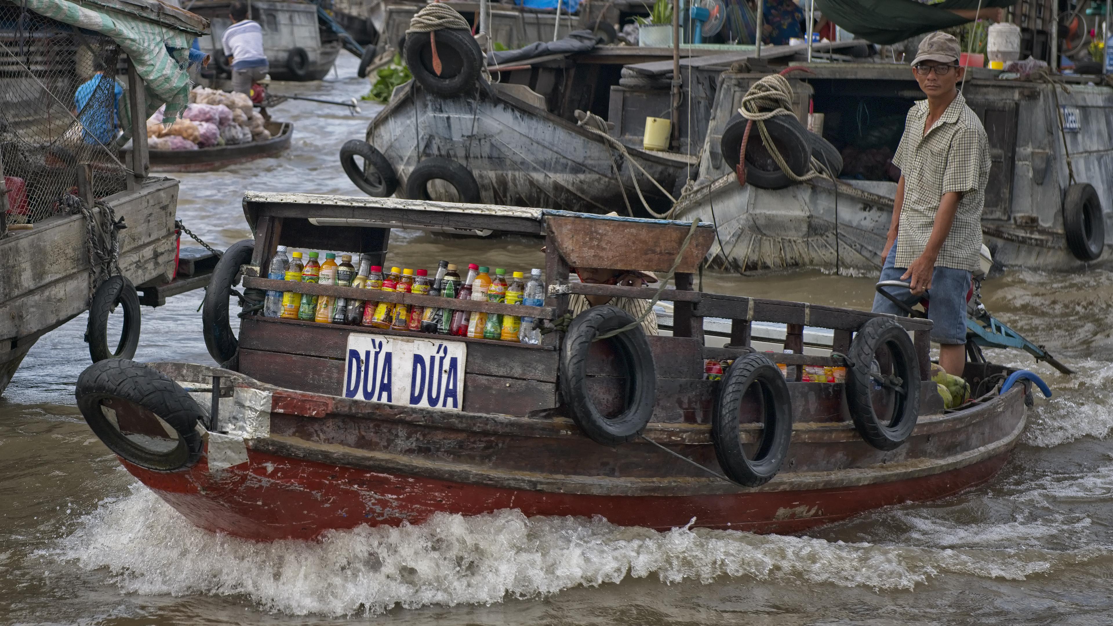 Selling Drinks on Floating Market
