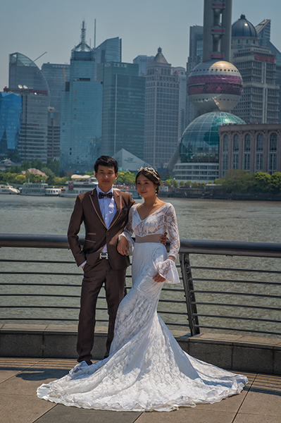 Wedding on the Bund in Shanghai
