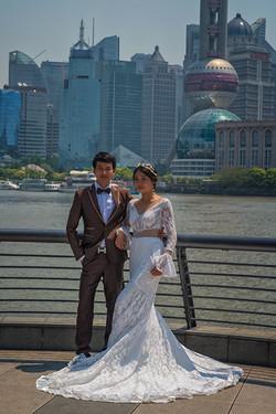 Wedding on the Bund in Shanghai