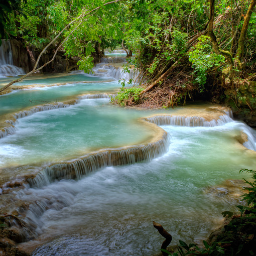 Tad Sae Waterfall in Luang Prabang, Laos