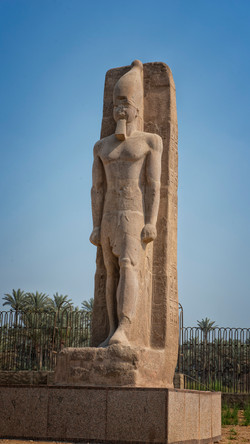Statue of Ramesses II at Memphis.