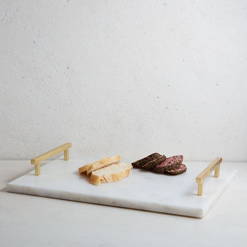Marble + Brass Square Board