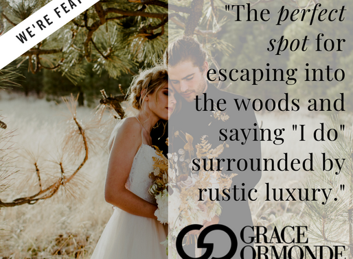 """""""The perfect spot for escaping into the woods and saying """"I do"""" surrounded by rustic"""