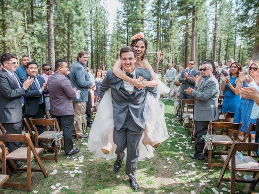 A Rustic Travel-Themed Wedding at Chalet View Lodge