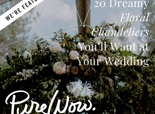20 Dreamy Floral Chandeliers You'll Want at Your Wedding