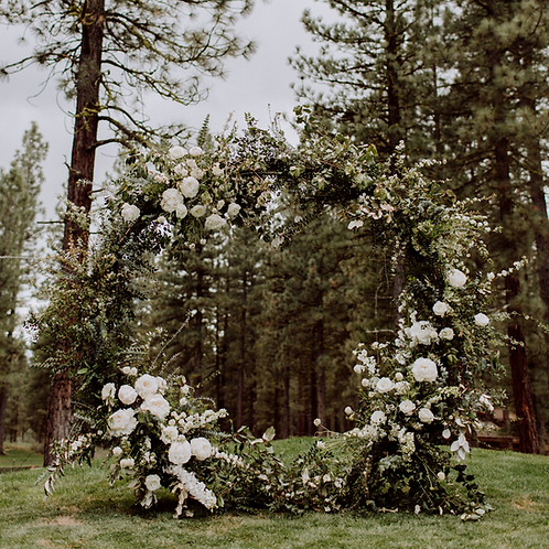 Circular Floral Arch Structure