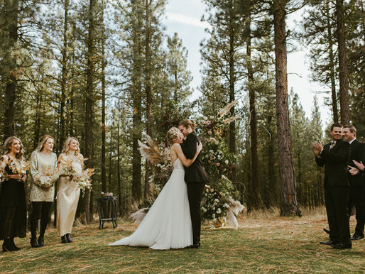 Modern + Edgy Forest Wedding