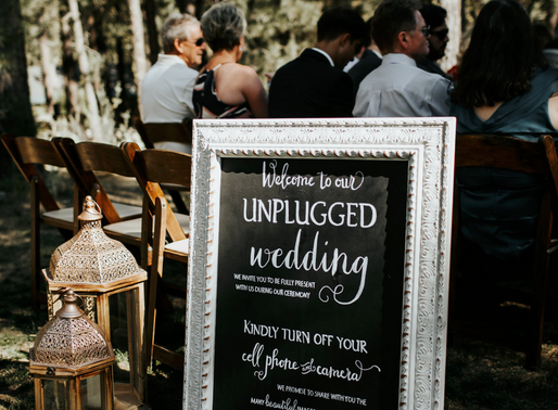 Why You Should Consider An Unplugged Wedding...