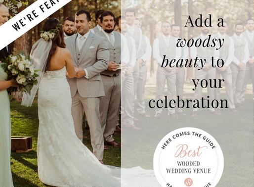We're named Best Wooded Wedding Venue!