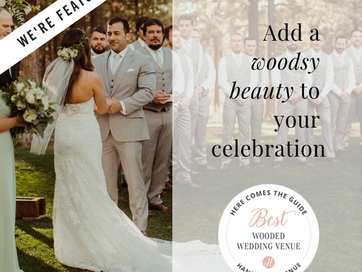 We're named Best Wooded Wedding Venue!