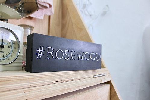 Neon Wood Box Post
