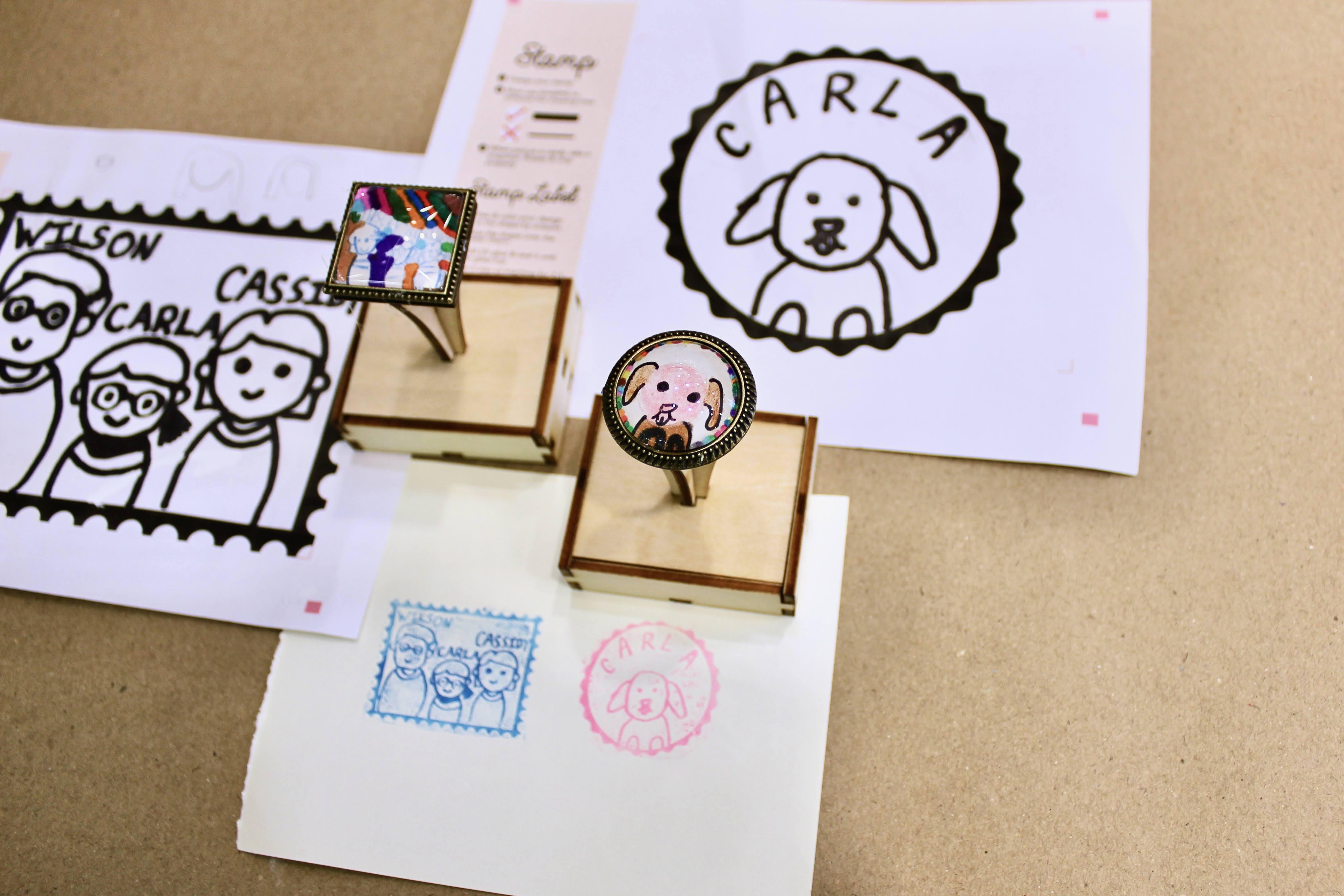 ◉★ Lasercut Stamp of 2
