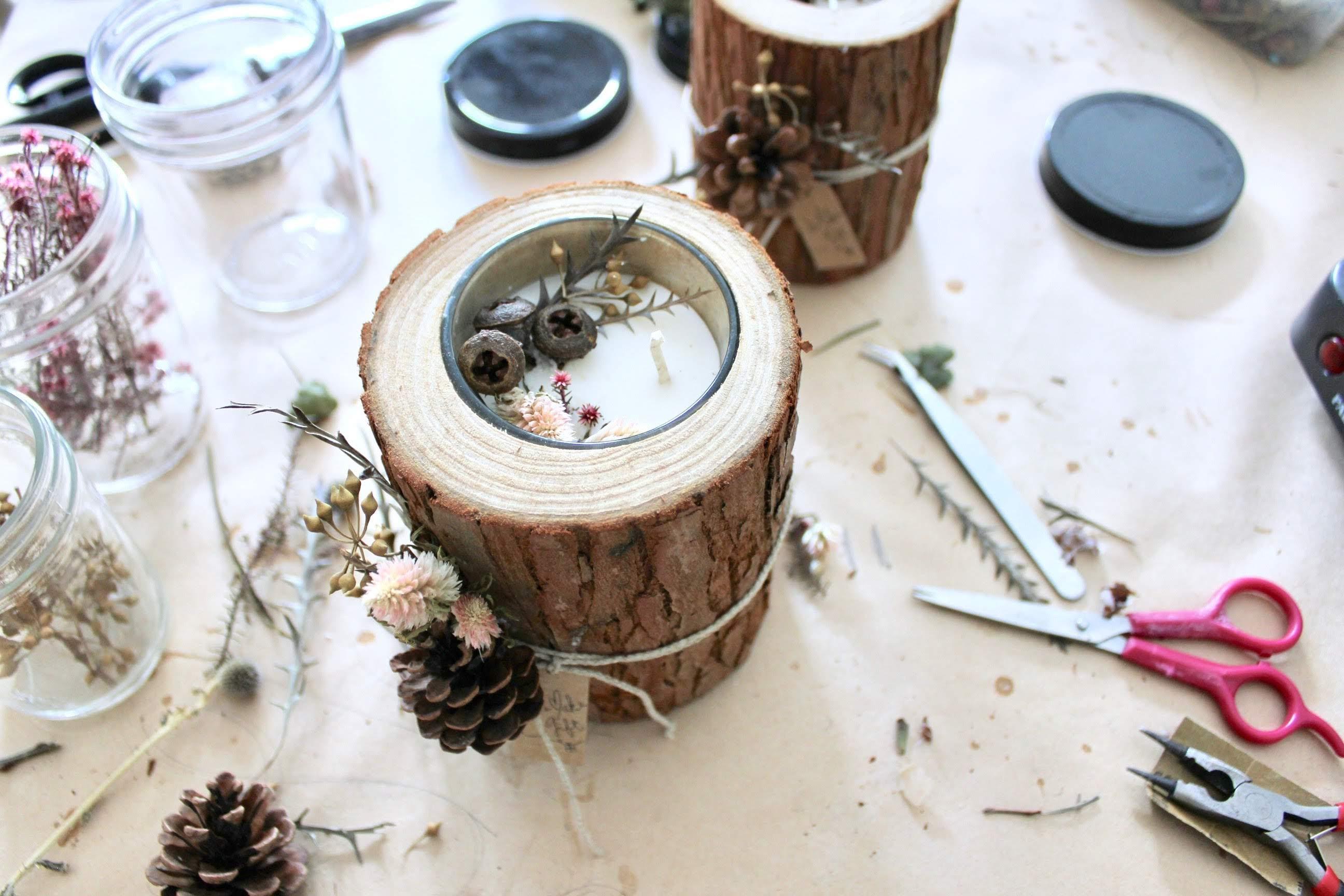 ◉★ Wood Candle