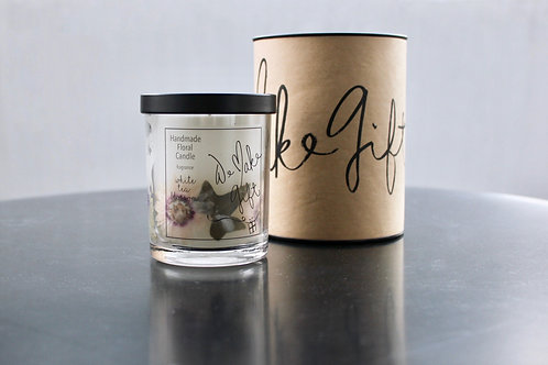 Handmade Floral Candle