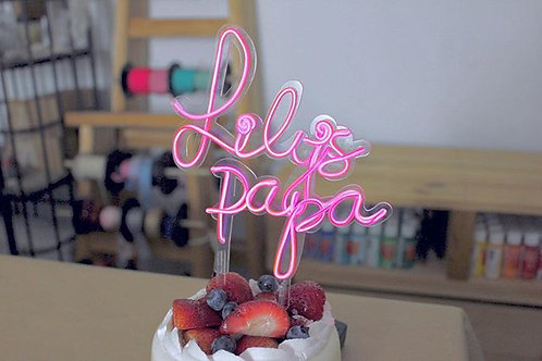 Neon CakeTopper / FlowerTopper