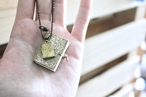 Book Pendant Necklace