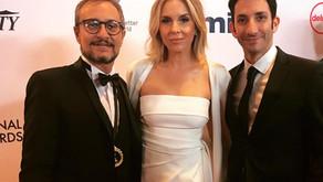 """""""Cien días para enamorarse"""" en la alfombra roja de los Emmys Awards 2019."""