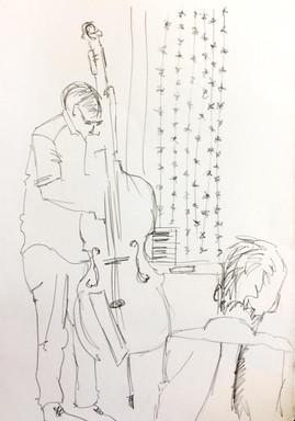 Matthew Read Trio Live drawing