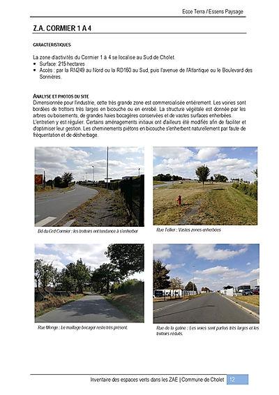 Inventaire des espaces verts - Cholet