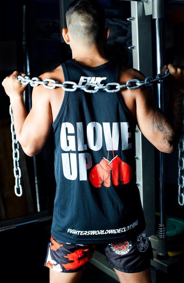 Mens Glove Up Singlet - Back
