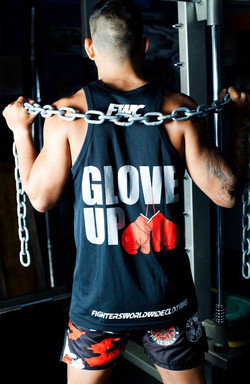 Mens Glove Up Singlet - Back