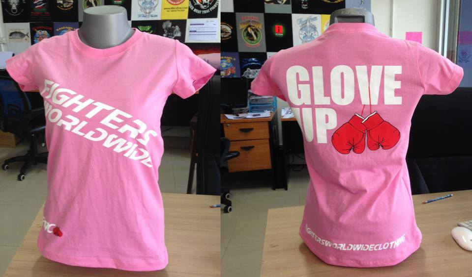 Pink Glove Up Tshirt IN STOCK NOW