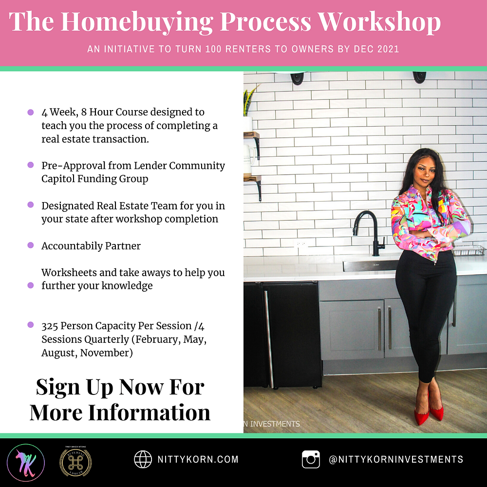 Information about home ownership and workshops for homebuying