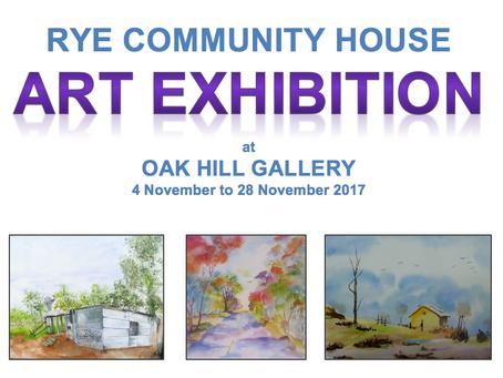 Oak Hill Gallery Art Exhibition