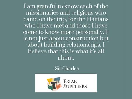 Sir Charles Haiti Reflection Letter 2021