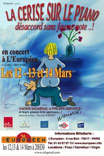 La cerise sur le piano à Paris