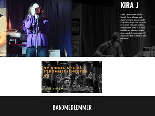 Kira J med ny webside i samarbeid med PåppFønk og Wix