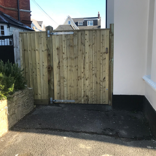 Bespoke Wooden Gate with Lock