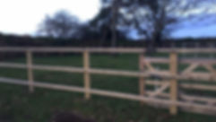 Wooden post and rail horse and equestrian fencing with electrical fencing can add five bar gates