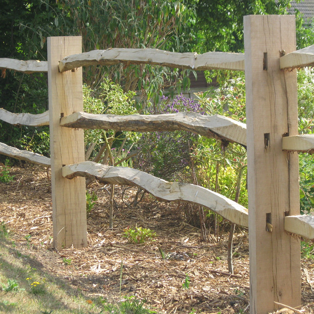 Cleft Chestnut Post and Rail Fence
