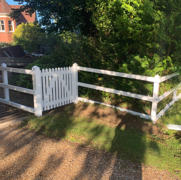 White Picket Fence and Gate
