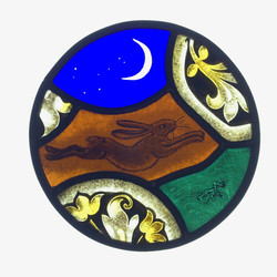 Hare and Moon Roundel