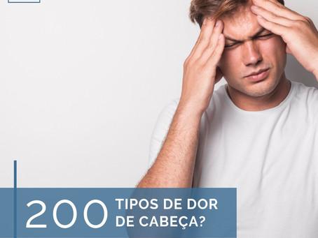 Existem mais de 200 tipos de dor de cabeça classificadas: dado impressionante não é?