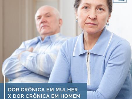 Dor crônica em mulher x dor crônica em homem