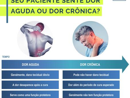 Dor aguda ou dor crônica: o que seu paciente sente?